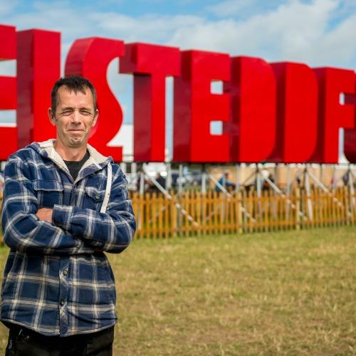 Tony Thomas, who built the iconic installation