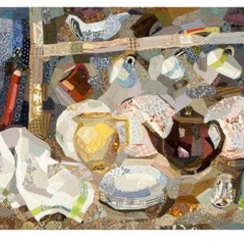 The Dresser - print of patchwork by Edrica Huws (1971)